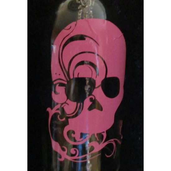 Hanging Pink Skull Bottle