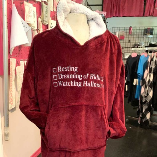 Red Sherpa Hooded Lounger
