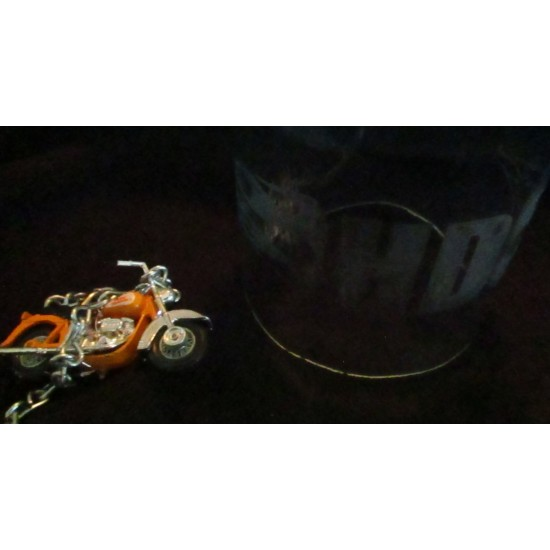 HD Motorcycle Under Glass